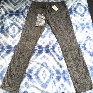 GUESS CHEETAH PRINT POWER SKINNY JEANS (STRETCH)